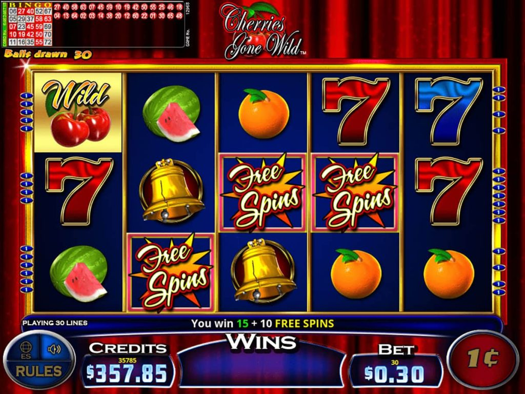 Cherries Gone Wild gaming screen