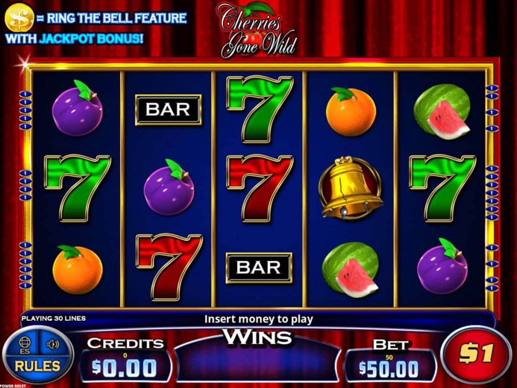 Cherries Gone Wild with Ring the Bell game screen