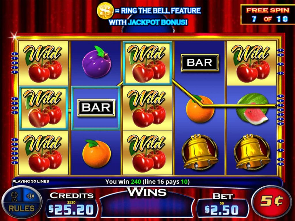 Cherries Gone Wild with Ring the Bell wild screen