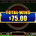 Fortune Feast Total Wins screen