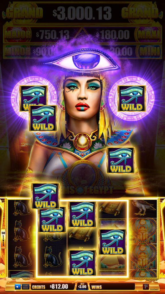 Gems Of Egypt Queen gaming screen