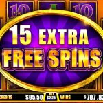 Lions Realm 15 Extra Free Spins screen