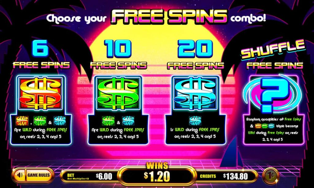 Money Vibe Free Spins screen