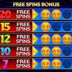 Ox Lucks Free Spins Bonus screen