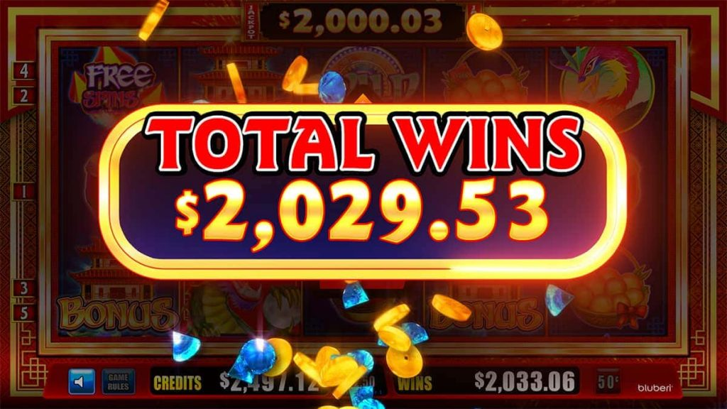 Temple Of Wealth Total Wins screen