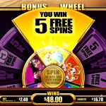 Wishes And Destinies Five Free Spins screen