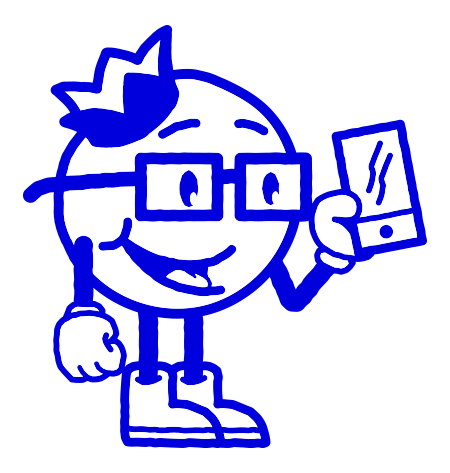 Bluberi Animated Character With Glasses Holding Phone