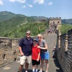 John and family on Great Wall